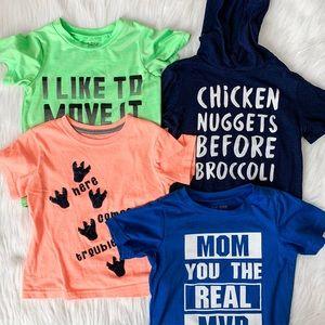Bundle of 4 Toddler Boy Graphic T-shirts